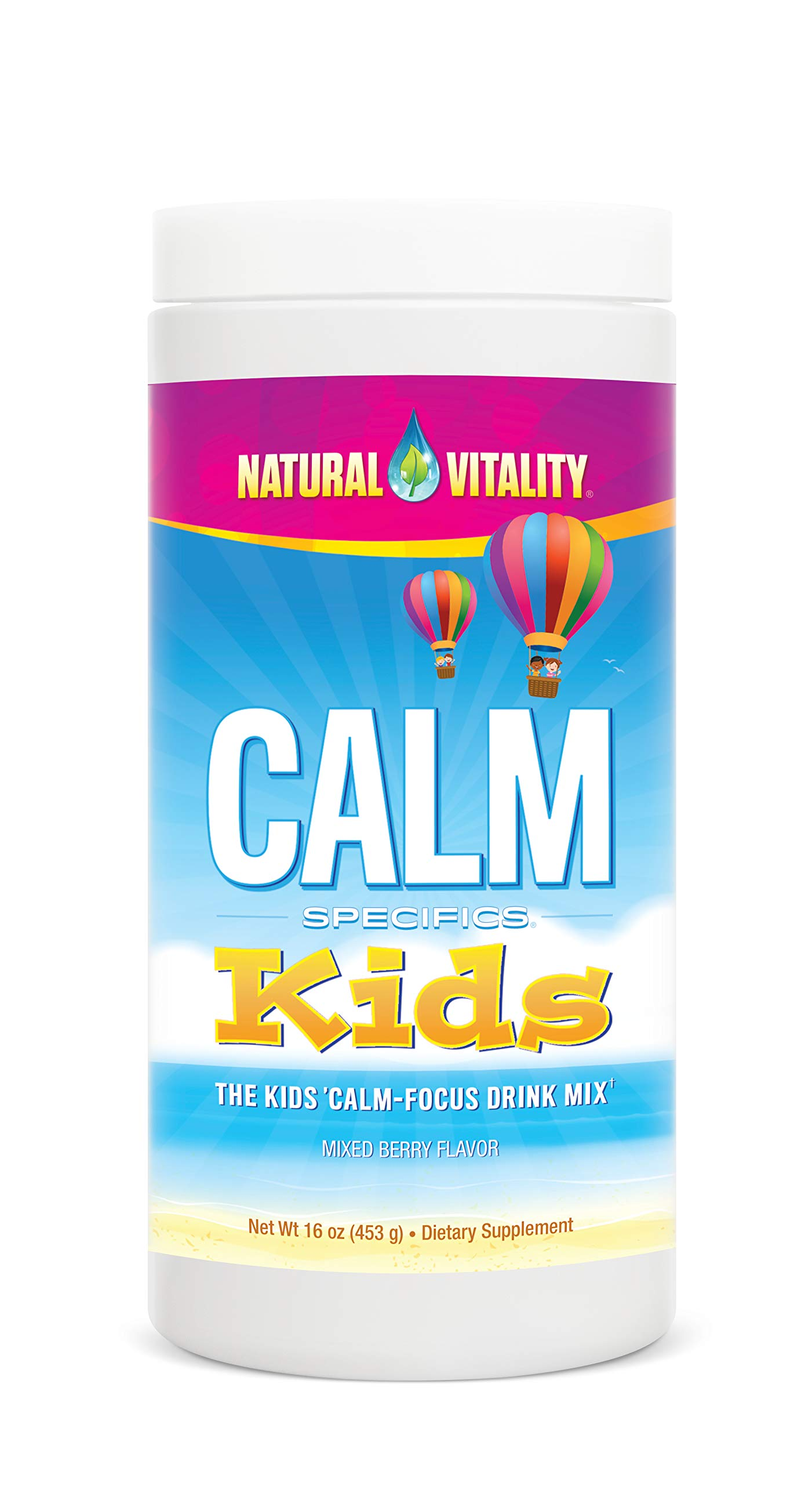 Natural Vitality Calm Specifics, Kids Magnesium Dietary Supplement Powder, Mixed Berry Flavor - 16 Ounce by Natural Vitality
