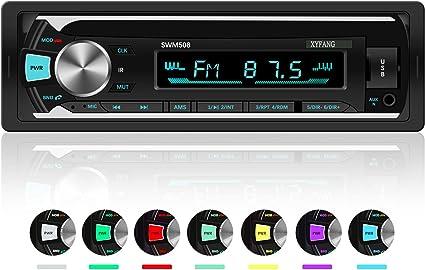 Autoradio Bluetooth, XYFANG Stereo auto 1 Din Car Radio FM