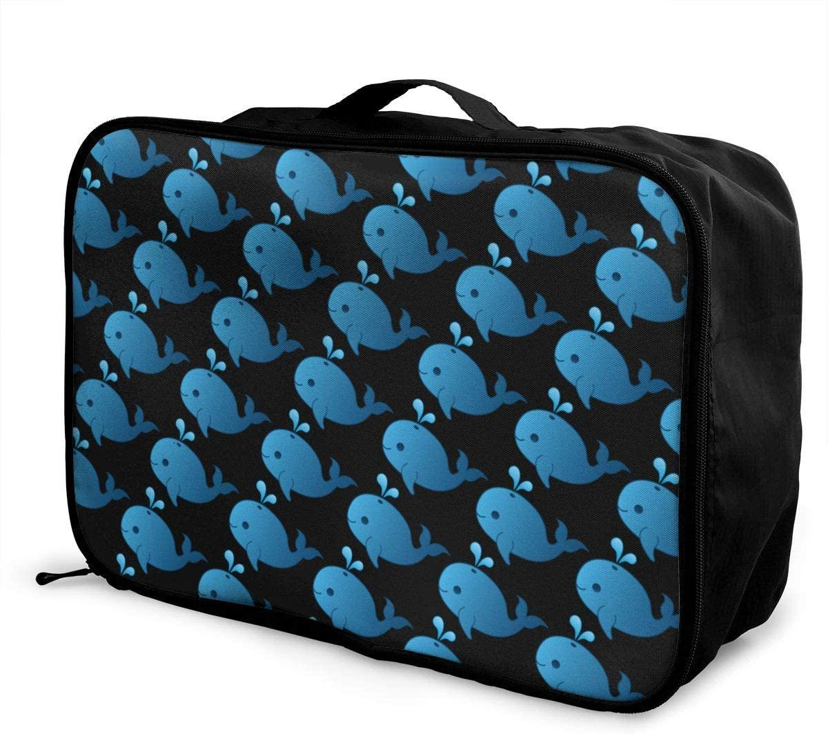Whale Travel Carry-on Luggage Weekender Bag Overnight Tote Flight Duffel In Trolley Handle