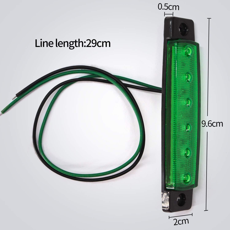 Feux de Gabarit LED Feux Lat/éraux Eclairage,LED C/ôt/é Marqueur Feux Indicateurs De Position Blanc 24V /Étanche LED Feux de c/ôt/é pour Camion Remorque Camion Bus Bateau