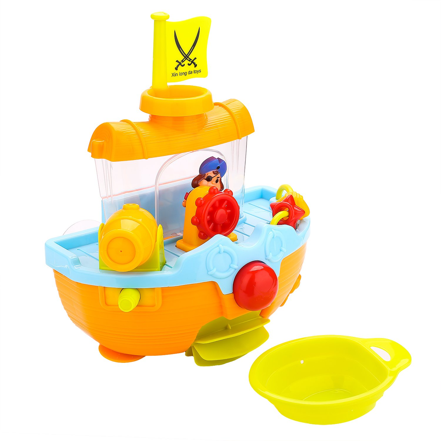 Bath Toys Pirate Ship Bathtub Toys For Toddlers Kids Boys – Top ...