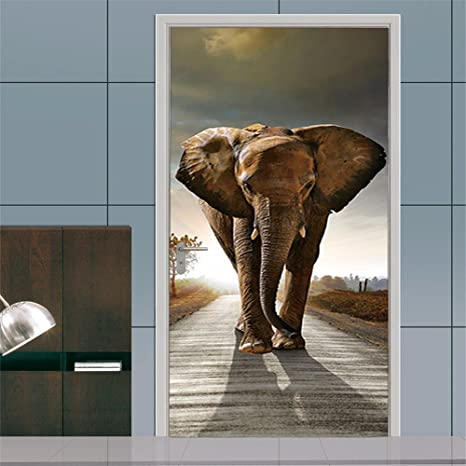 Adornos navideños para Halloween 3D estéreo puerta Puerta adhesivos adhesivo (de Orfanato de Elefantes)