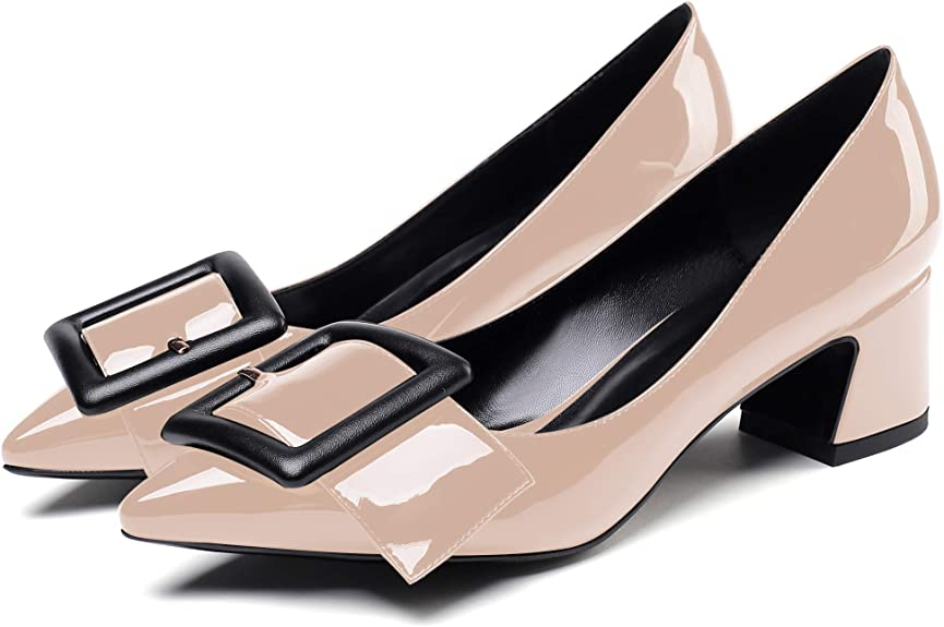 YODEKS Women's Pointed Toe 2 Inch Block
