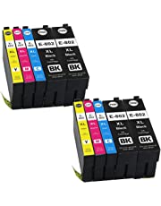 YRSINK Compatible Ink Cartridges 702XL for Epson Workforce WF-3720 WF-3725 Printer (10PK 4BK,2M,2Y,2C)