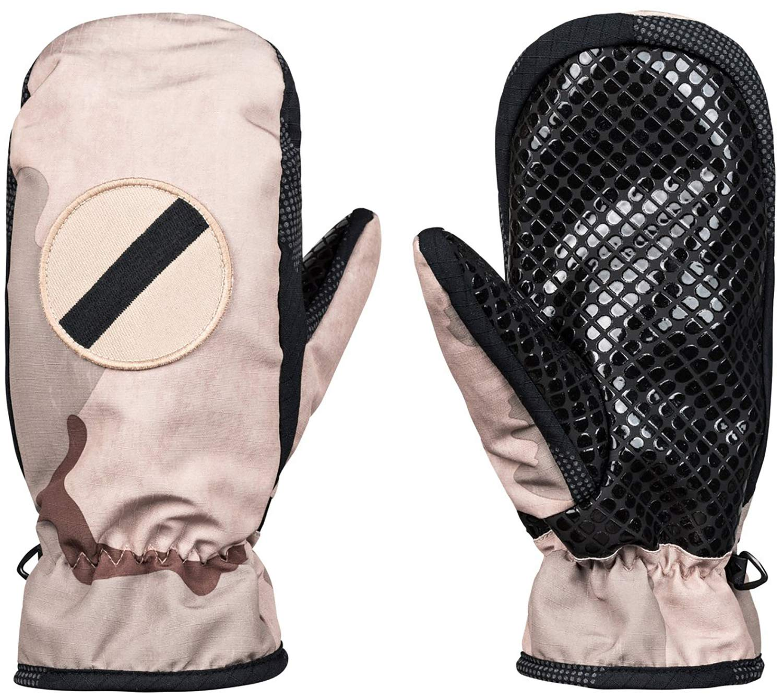 DC Men's SHELTER MITT Snow Glove, Incense DCU camo Melon, L