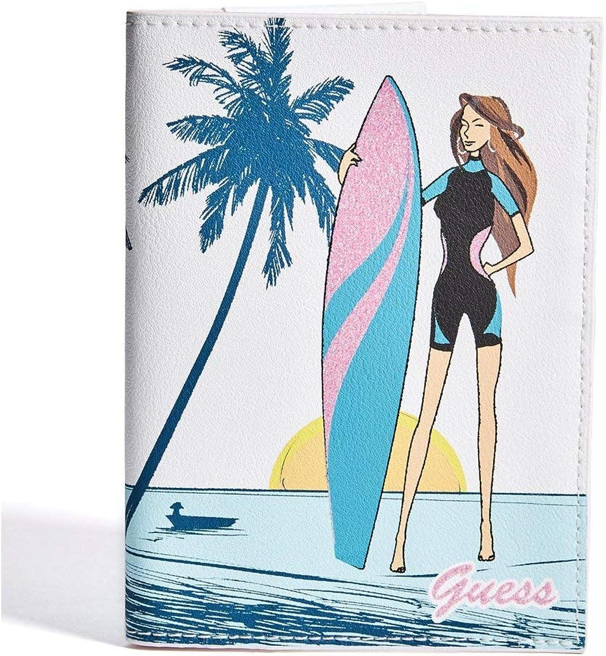 GUESS Factory Womens Surfer Girl Passport Case