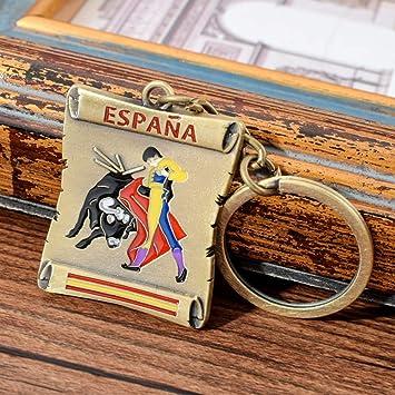 Moda España Bull Fighting Llavero para Hombres Mejor Llavero Regalo para Amigos Llavero Hombres: Amazon.es: Juguetes y juegos