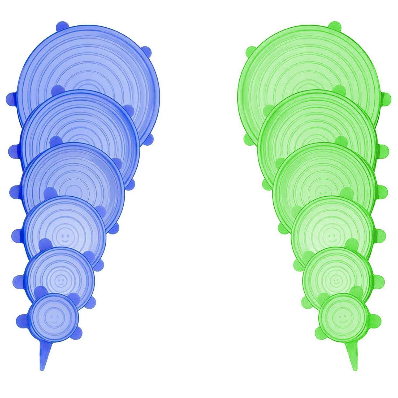 Haltbare Aufbewahrungs Cikuso Silikon Elastischer Deckel,12 St/ücke Verschiedene,Beh?lter Deckel f/ür Lebensmittel Beh?lter Aller Form Beh?lter,Mikro Wellen und Sp/ül Maschinen Geeignete