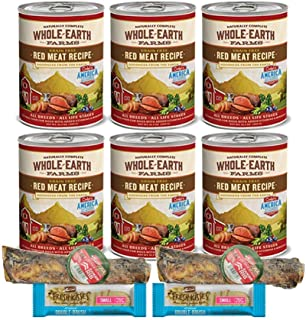 product image for Merrick Whole Earth Farms Dog Food Grain Free - 6 Cans Red Meat 2 Dog Bones 2 Dental Chews 1 Can Lid