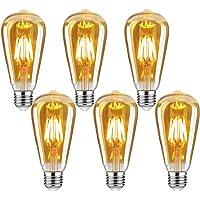 Edison Vintage gloeilamp, E27 4W Edison LED-lamp, warm wit, retro gloeilamp, vintage antieke gloeilamp, ideaal voor…