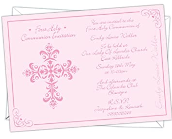 Personalised First 1st Holy Communion Invitations Invites HCI 010