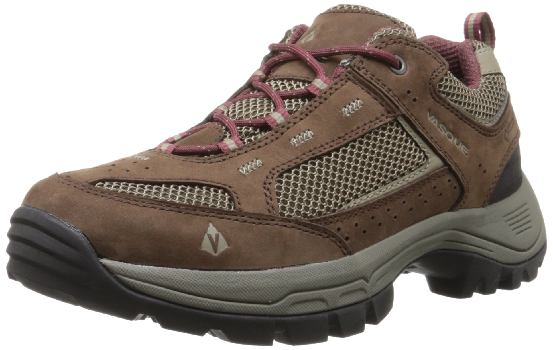 Vasque Women's Breeze 2.0 Low Gore-Tex Hiking Shoe, Slate Brown/Red Mahogany,8.5 W US