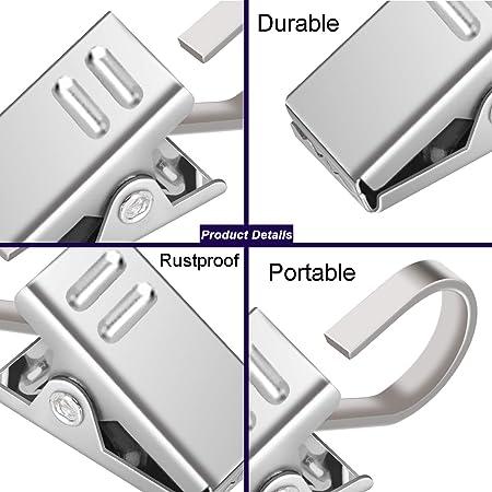 Amazon.com: OOTSR - Paquete de 60 clips de acero inoxidable ...