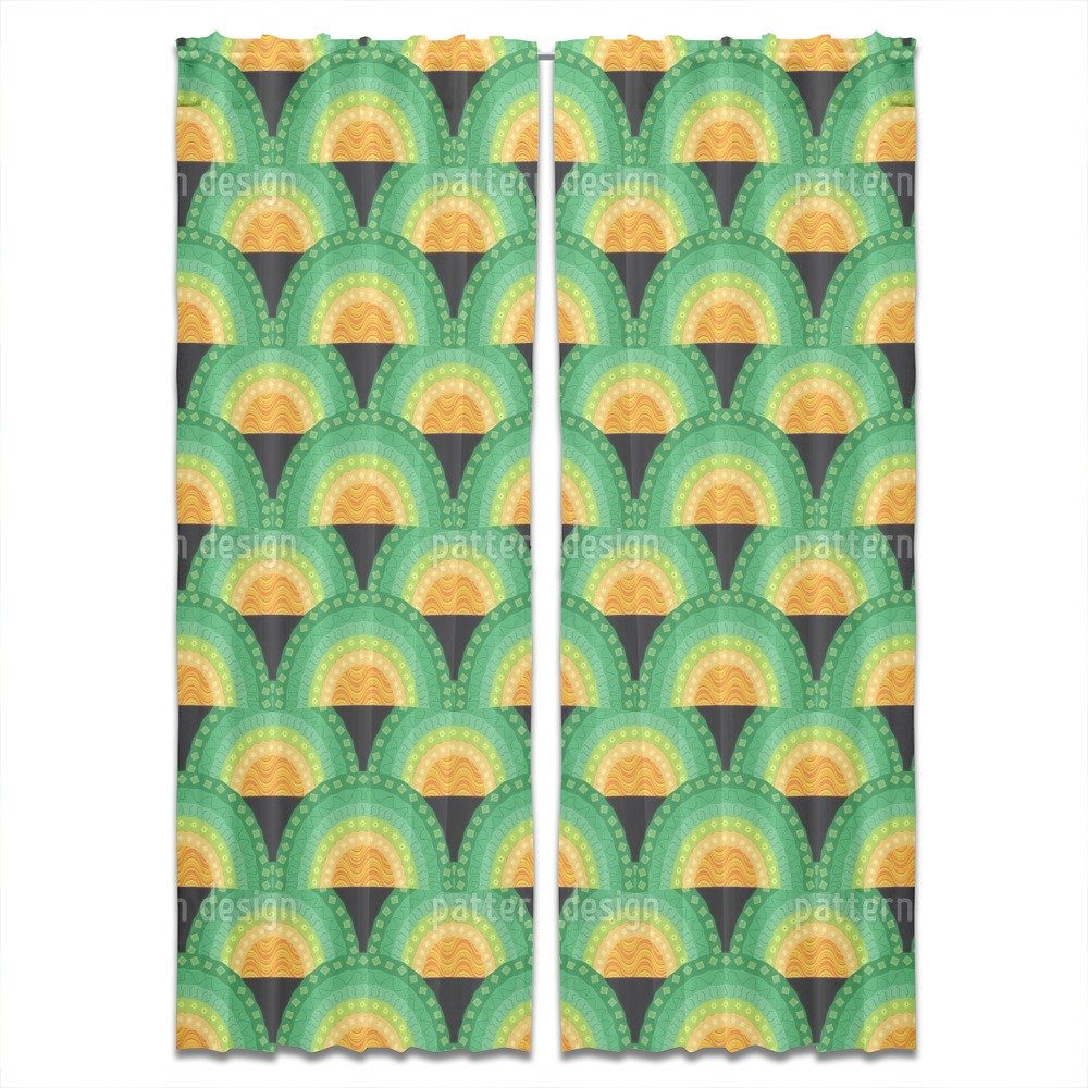 Bingo Bongo Curtain: Standard Window Treatment Set of 2 Panels for Living Room Bed Room by uneekee