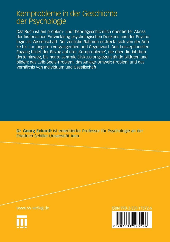 Kernprobleme in der Geschichte der Psychologie German Edition ...