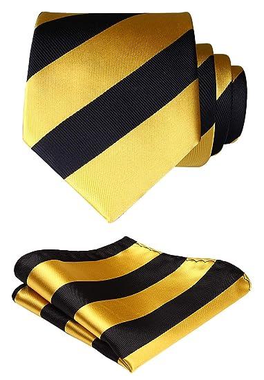 HISDERN extra larga rayas corbata a comprobar hombres de corbata y ...