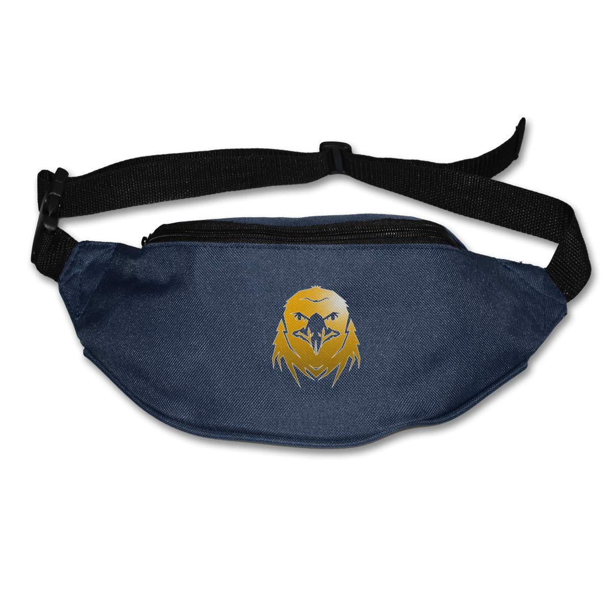 Golden Eagle Head Sport Waist Bag Fanny Pack Adjustable For Run