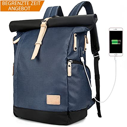 73f4e548d Tocode Laptop Backpack 15.6 Inch Men Women Computer Rucksack, Durable Roll  Top Water Resistant Anti