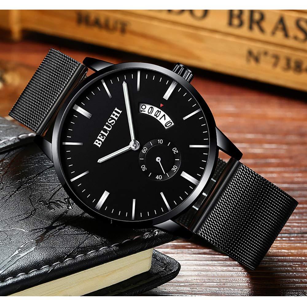 Amazon.com: Lomanda - Reloj analógico de cuarzo con correa ...