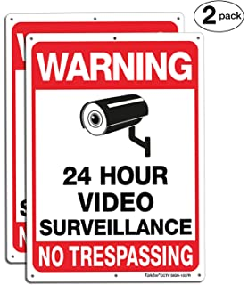 Amazon.com : Ultra Reflective Warning 24 Hour Surveillance ...