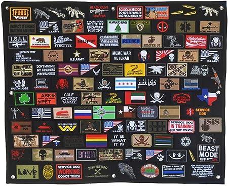 Tablero de parche táctico militar moral para el panel de visualización de pared para colgar póster marco de gancho y bucle (85 x 27,5 pulgadas): Amazon.es: Hogar