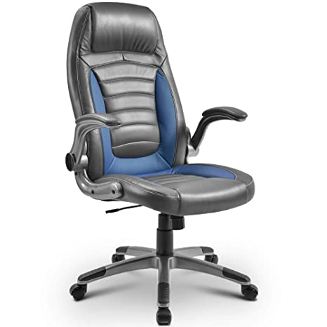 Stupendous Merax Comfy Office Chair Ergonomic Computer Chair High Back Executive Chair Height Adjustment Gaming Recliner Chair Support 300Lb Modern Desk Chair Ibusinesslaw Wood Chair Design Ideas Ibusinesslaworg