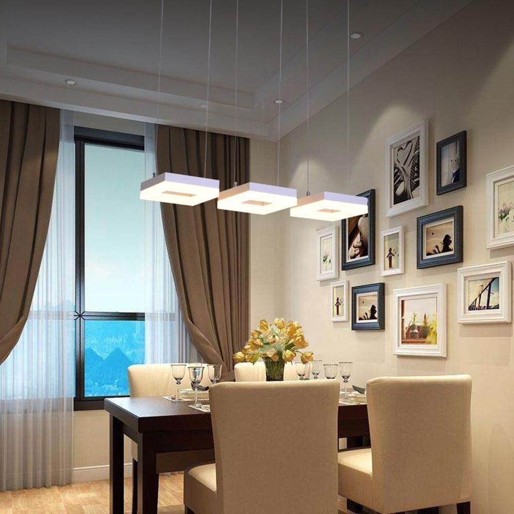 3-flamming 24W LED Pendelleuchte Kronleuchter Modern Elegant ...