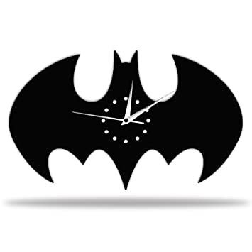 Batman Batarang Wall Clock, Creative Batman Wall Art, DIY Batman Wall Clock  Sticker Home