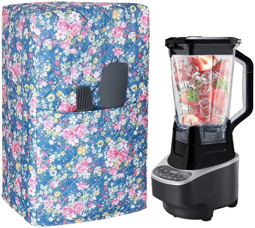 Blender Cover Compatible with Ninja 1000 Watt Professional Blender, Quilted Polyester Cotton Blender Appliance Cover, Kitchen & Dining Small Appliance Dust and Fingerprint Protection