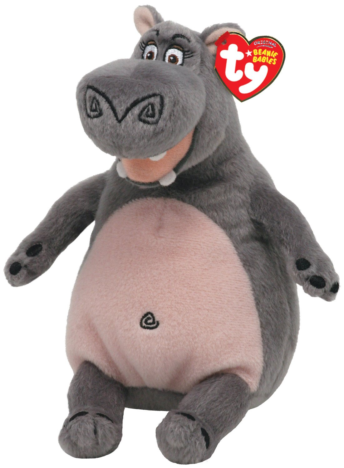 Uncategorized Hippo From Madagascar amazon com ty beanie baby madagascar gloria hippo toys games