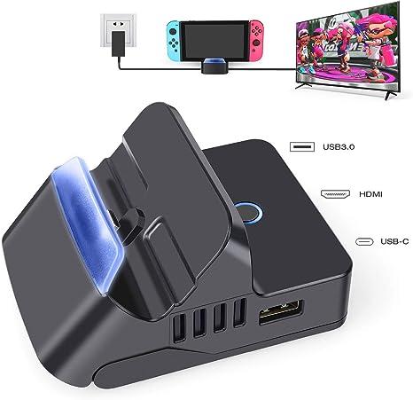 Switch TV Dock para Nintendo Switch, estación de acoplamiento ...