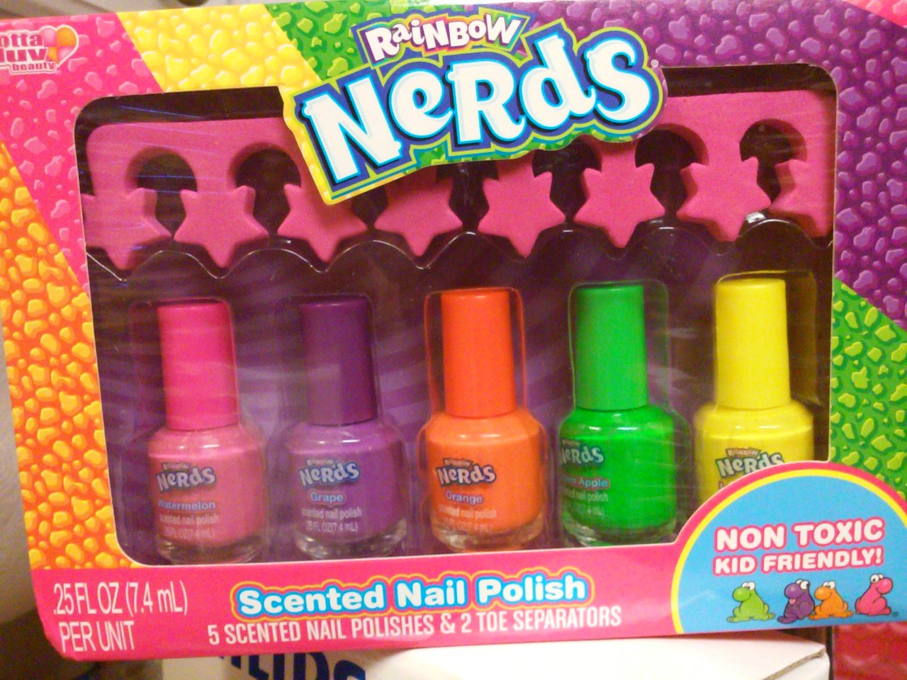 Amazon.com : Rainbow Nerds Scented Nail Polish Set with Toe ...