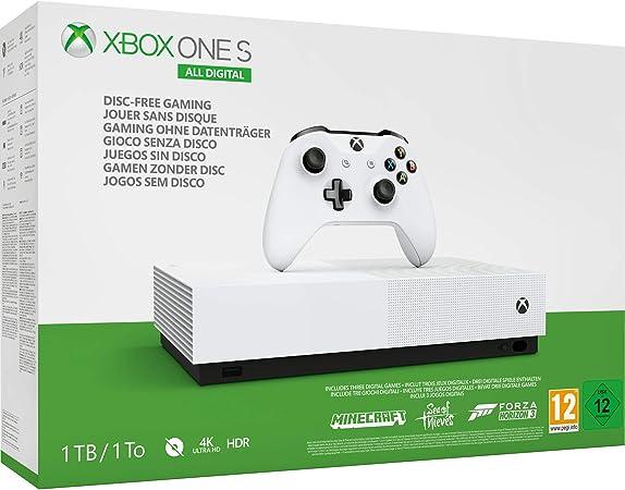 Microsoft Xbox One S All Digital - Consola de 1 TB, color blanco + ...
