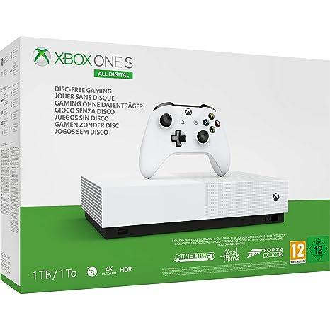 Microsoft Xbox One S All Digital - Consola de 1 TB, color ...