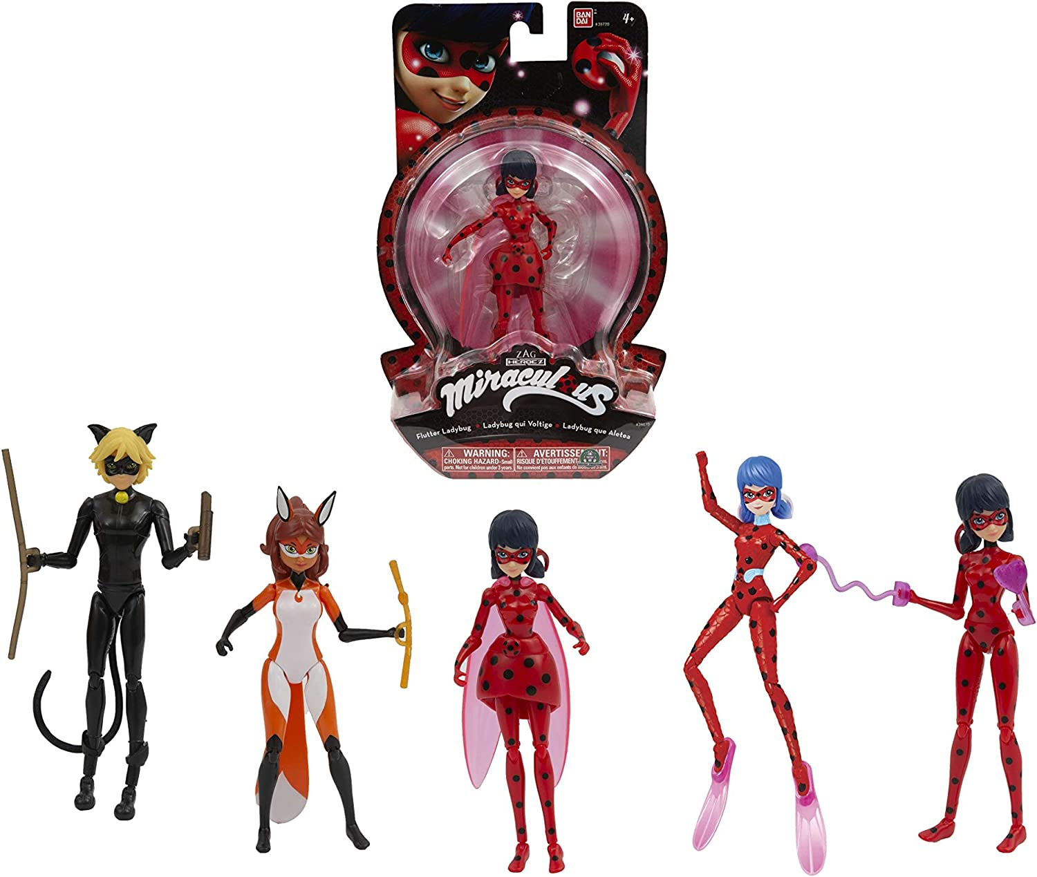 Giochi Preziosi Miraculous Action Figure 14Cm Assto 3 Personaggi E Playset, Multicolore, 8056379074472