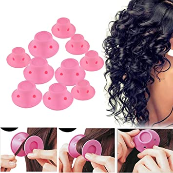 20 Pack Dttun Hair Rollers Silicone Self Grip No Clip No Damage Diy Hairstyle Tools