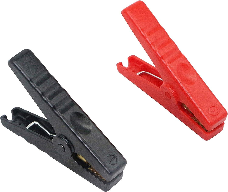 Fydun Clips de crocodile de voiture Clip 500AMP isolant pince crocodile Batterie de voiture pince crocodile pour batteries 6V 12V