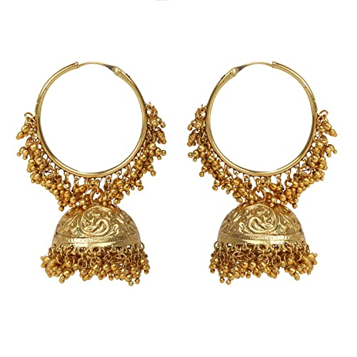 c9f009e62 Buy Dancing Girl Bali Jhumka Golden Metal Alloy Jhumka Earring for Women  Girls Online at Low Prices in India | Amazon Jewellery Store - Amazon.in