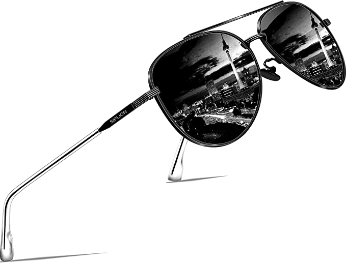 Night Vision Men Driving Polarized Sunglasses w// Case Pilot Mirror Sun Glasses