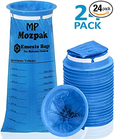 Amazon.com: Mozzpak - Bolsas de vómito - 24 unidades ...
