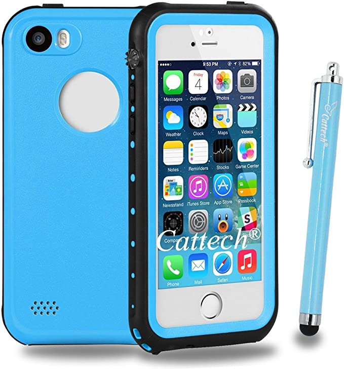 iPhone 5S Funda impermeable, cattech iPhone se [resistente al agua] Protección IP68 dirt-poof golpes snow-proof, Submarino duro Armor Rugged Full Body ...