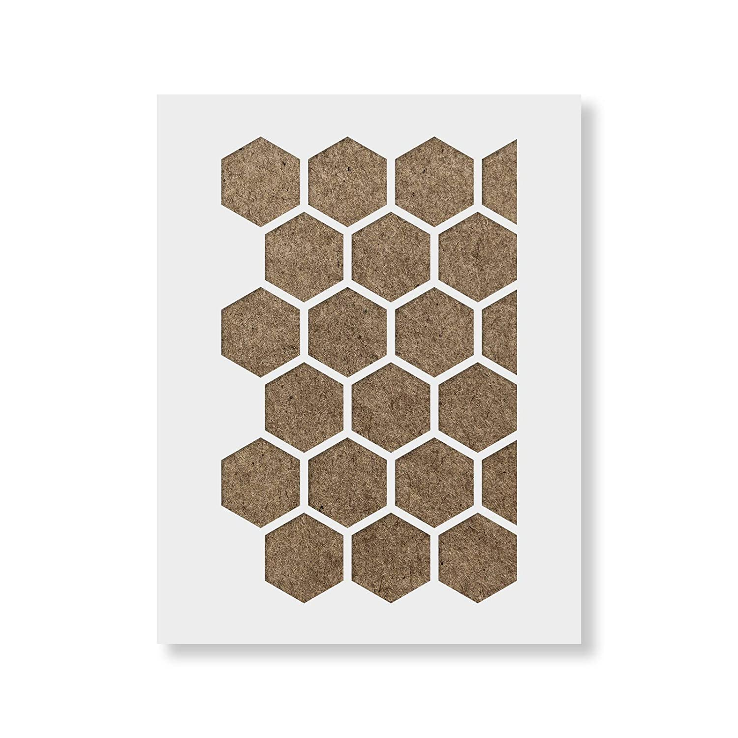 33.5 x 21 Honeycomb Stencil Reusable Wall Stencil Pattern for Home Decor Design Size
