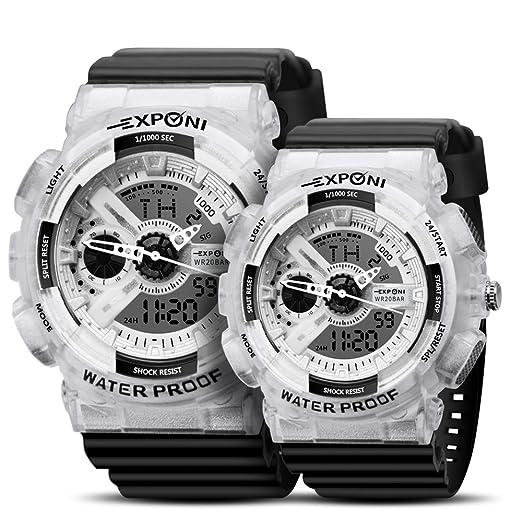 Reloj de pulsera para pareja, deportivo, militar, resistente al agua, resistente a los golpes, movimiento japonés ...