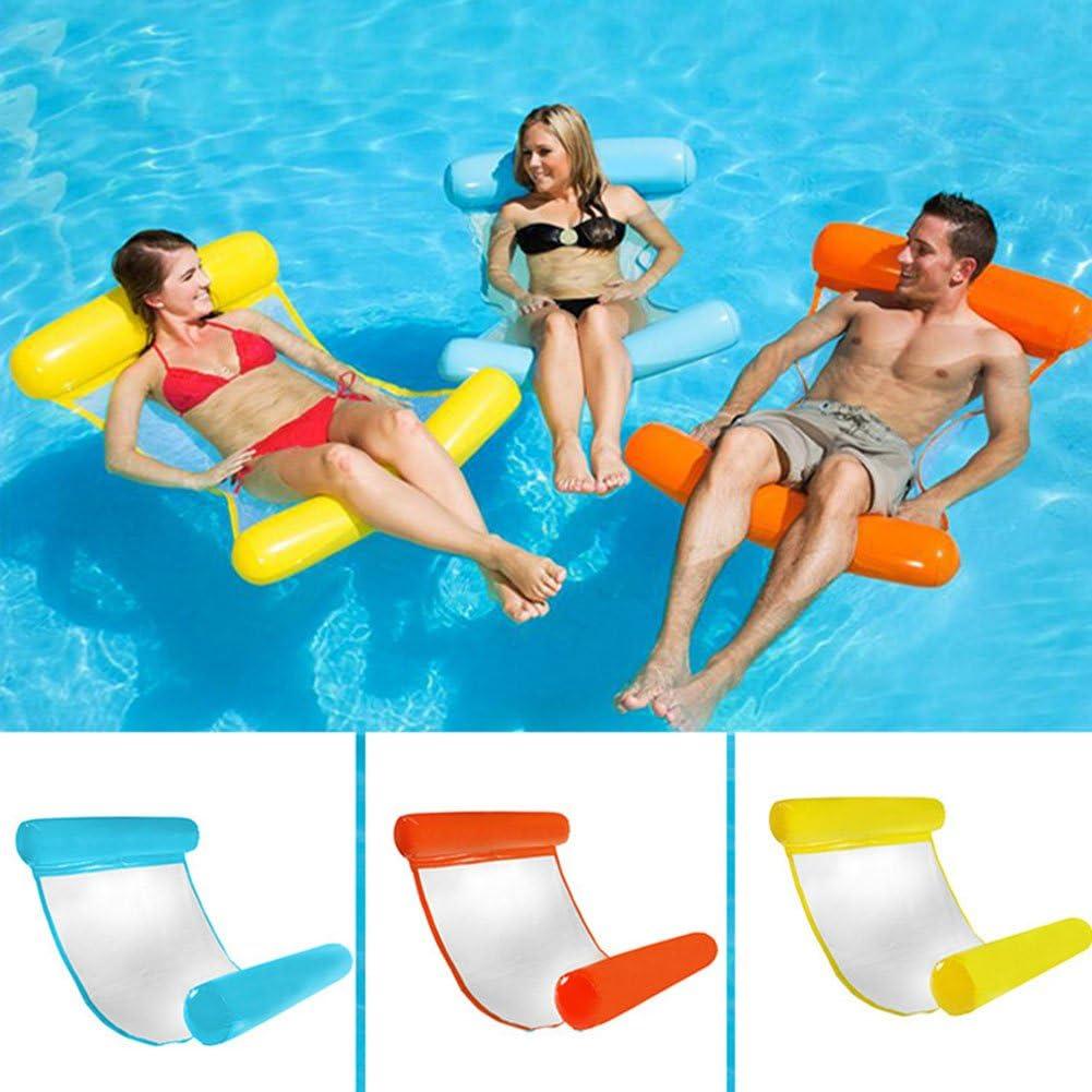 Liamostee Hamaca de Agua Inflable Cama Flotante Silla de salón Drifter Piscina Flotador de Playa para Adulto