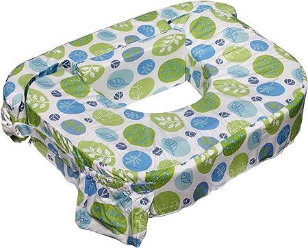 cladrastis Zwilling cojín de lactancia,Color: Diseño de hojas de color verde azul,Ancho 70cm, profu