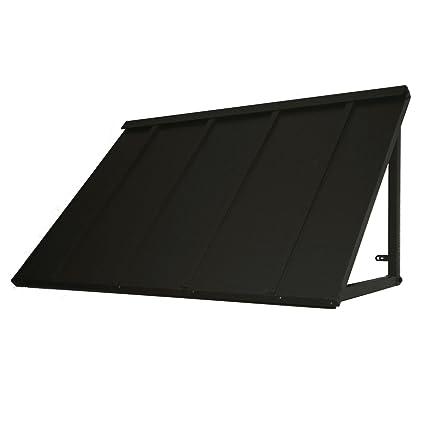 Denmir Door Window Awnings Metal Standing Seam 6ft X 36 Black