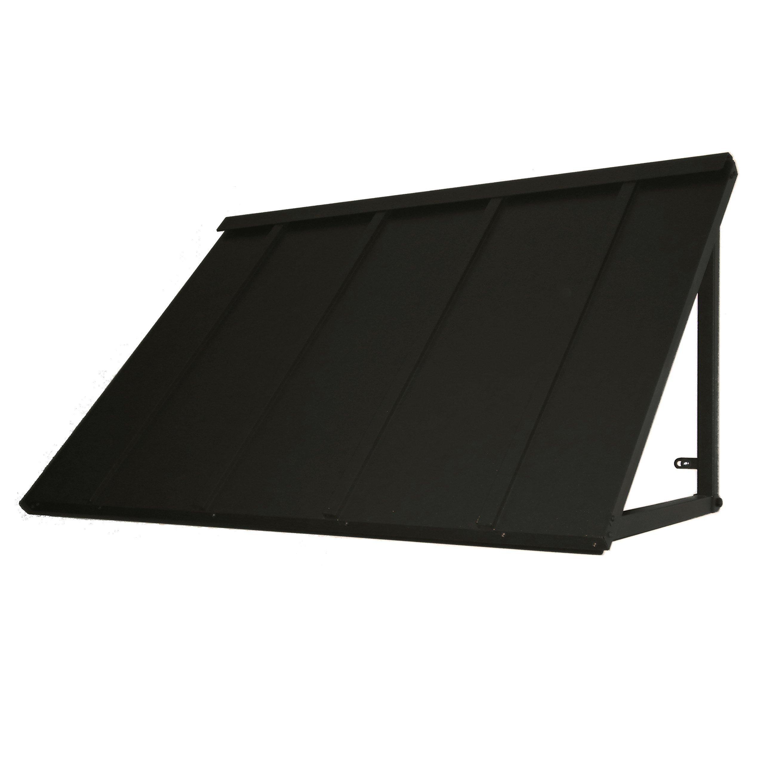 Denmir Door-Window Awnings Metal Standing Seam, 6ft x 36'' Black