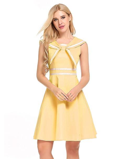 Amazon.com: Zeagoo - Vestido sin mangas para mujer, estilo ...