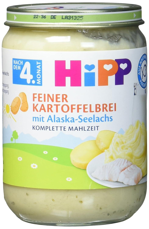 HiPP Feiner Kartoffelbrei mit Alaska-Seelachs, 6er Pack (6 x 190 g) 6241
