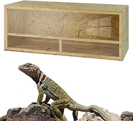 DeTec Terrario de Madera, 150 x 60 x 60 cm, de Madera OSB, terrario de Madera para Reptiles, Serpientes, Tortugas, ventilación, Puertas correderas de plexiglás: Amazon.es: Productos para mascotas